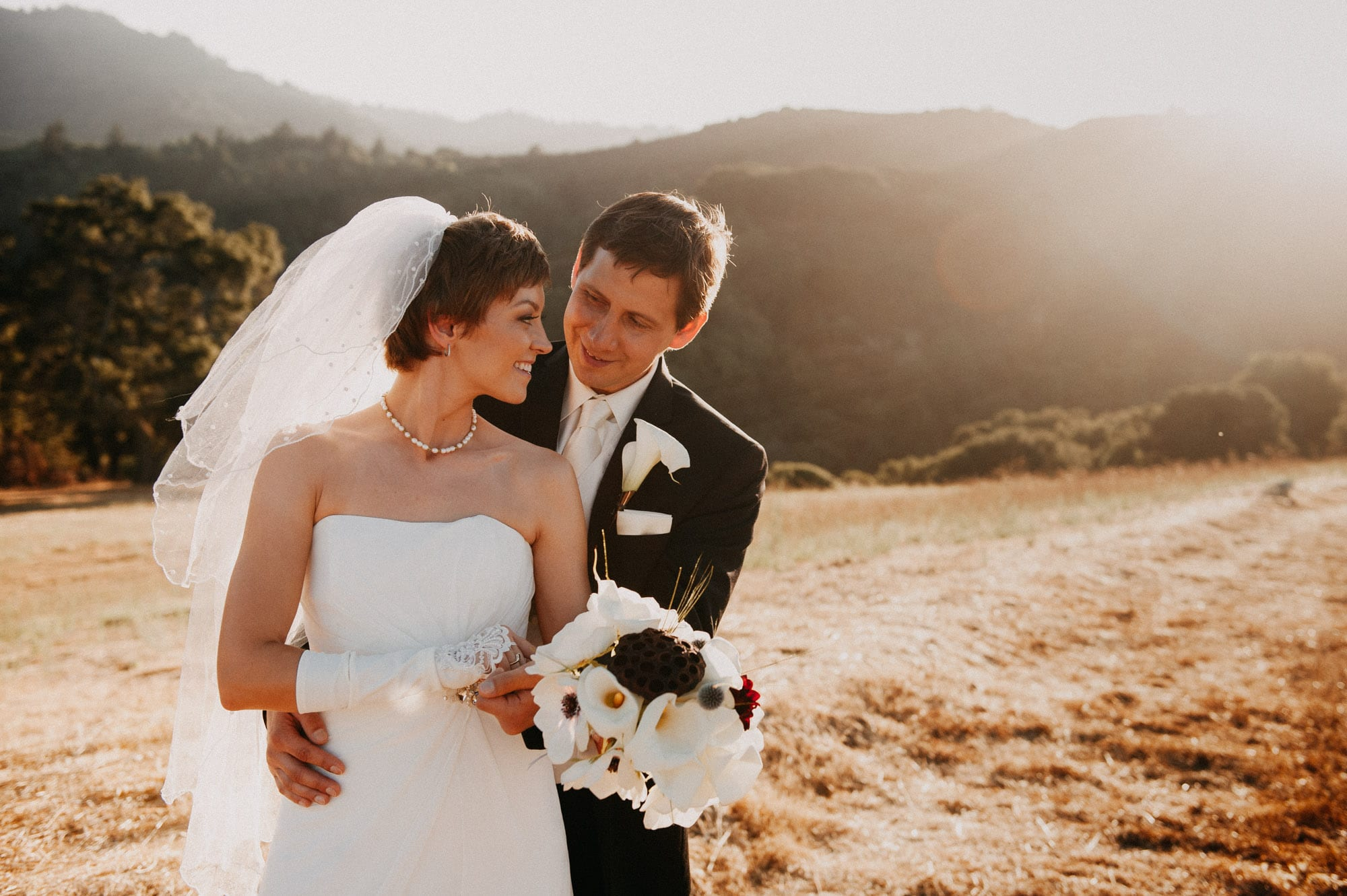 Wedding portrait, Mountain View Winery, California, wedding portfolio