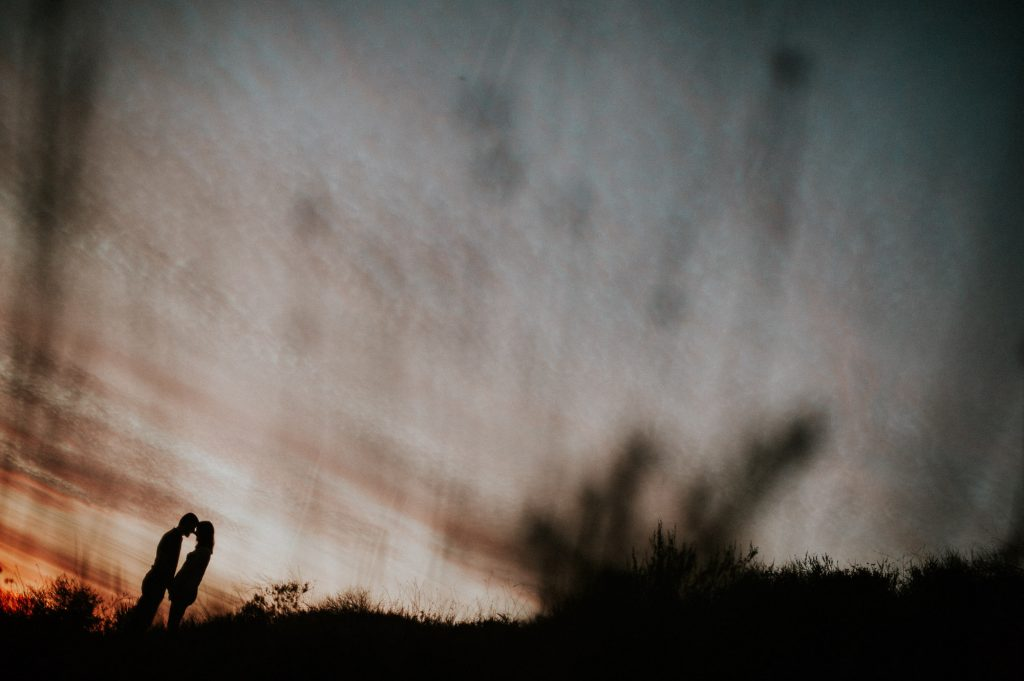 Silhouette of couple in Griffith Park California, Beloved Portfolio