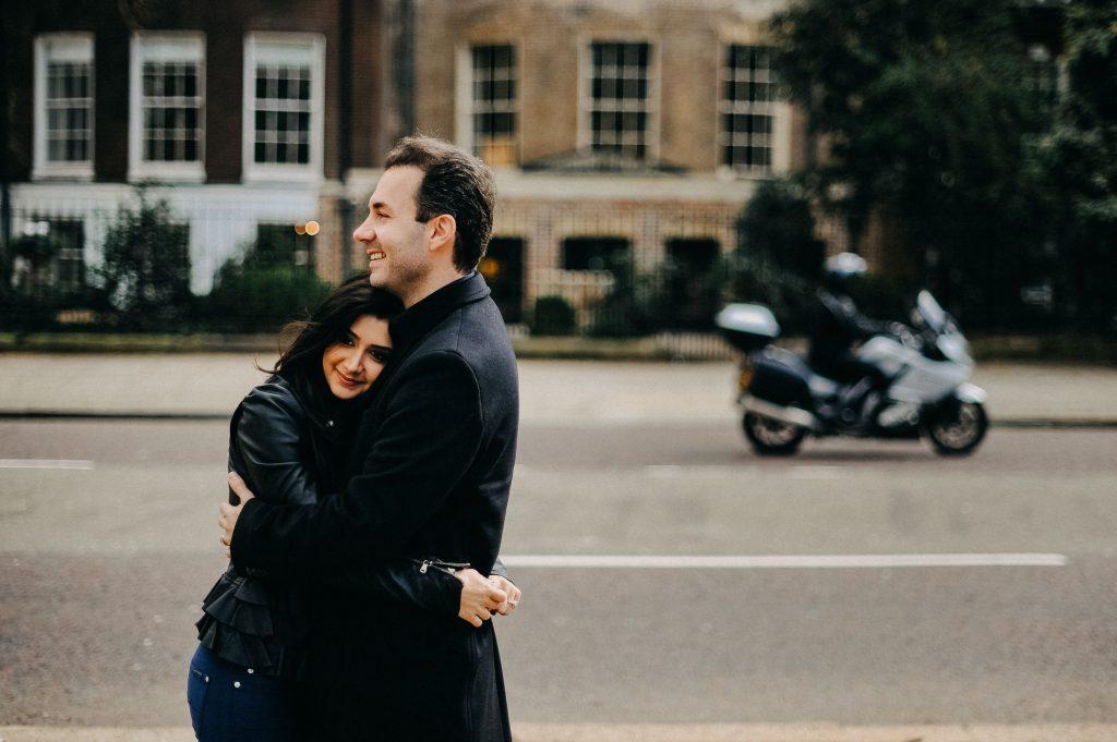 Engagement shoot near Saint James Park in London, Beloved Portfolio