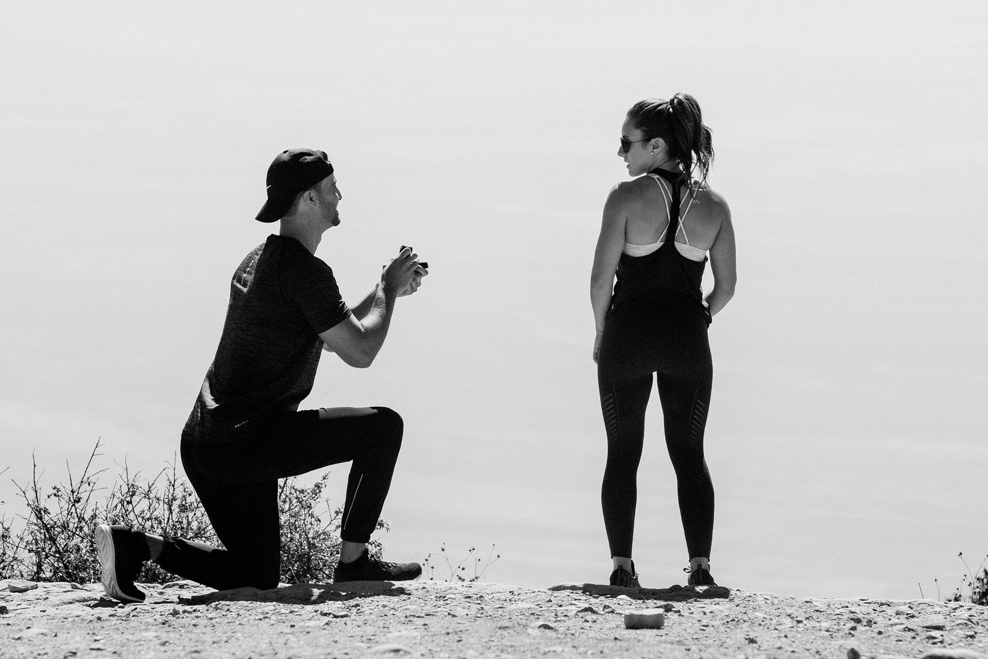 wedding proposal photographer pacific palisades