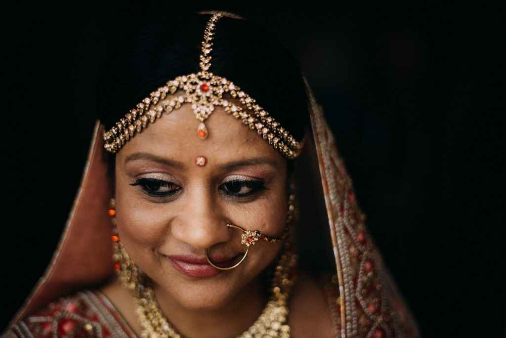 Indian Bridal Portrait, Indian Elopement