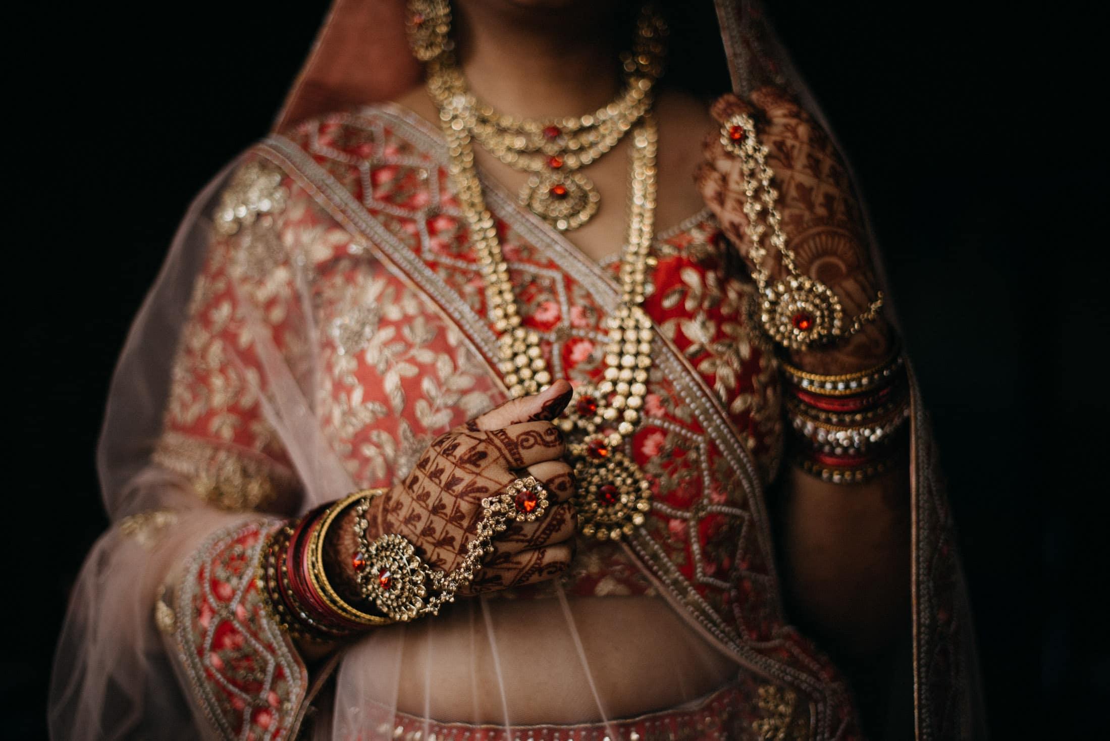 Indian Bridal Portrait, Indian Elopement